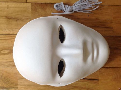 """FOUR ITEMS - White """"Blank"""" Mask - Fast Free USA shipping"""