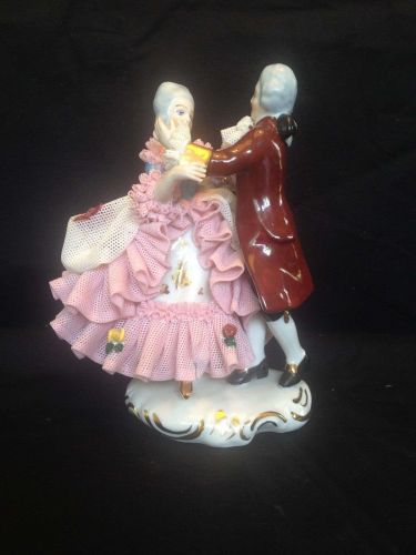 antique porcelain. DRESDEN dancing couple