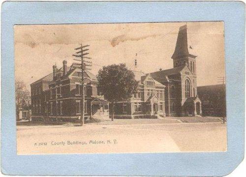 New York Malone County Buildings Street Scene ny_box5~1900