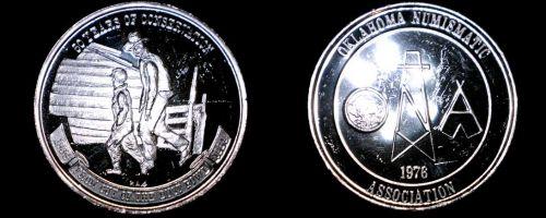 1984 Oklahoma Numismatic Association 1 oz Silver Proof Round - 50th Anniversary