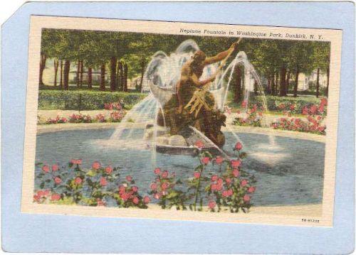 New York Dunkirk Neptune Fountain In Washington Park ny_box3~891