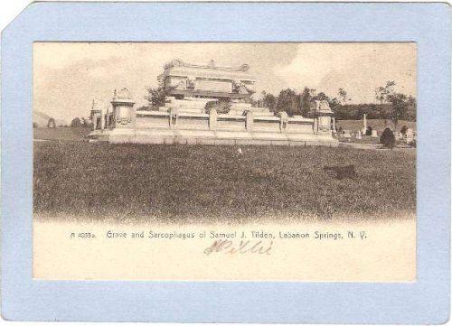 New York Lebanon Springs Grave & Sarcophagus Of Samuel J Tilden ny_box3~1211