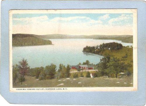 New York Schroon Lake Looking Toward Outlet ny_box5~1783