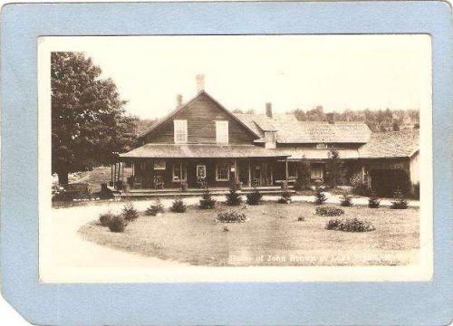 New York Lake Placid Home Of John Brown Real Photo Postcard ny_box5~1773