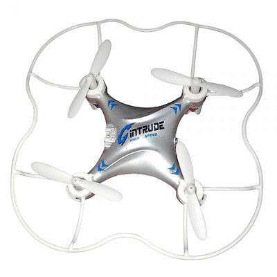 Gin H7 4CH 6 Axis Gyro LED flight 6 min RC Quadcopter w Protective Cover Mode 2
