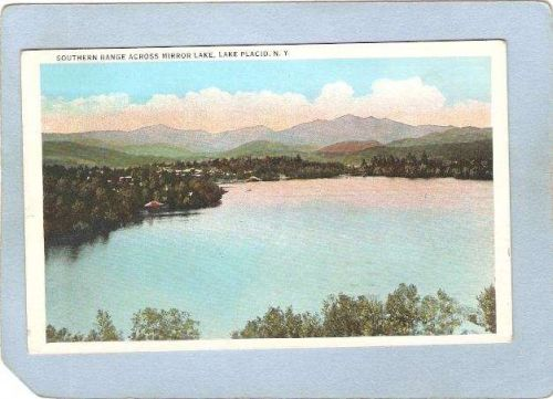 New York Lake Placid Southern Range Across Mirror Lake ny_box5~1713