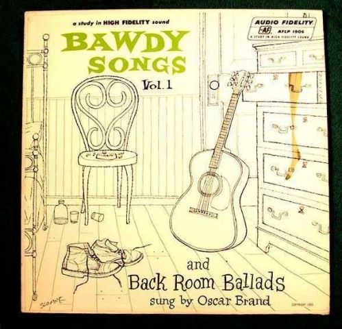 4 LP BAWDY SONGS and BACK ROOM BALLADS ~ Oscar Brand Vols 1-4 / 1950's Risque