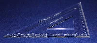 "Laser Cut Drafting Square & Eraser Shield - 1/8"" Acrylic & 14 Mil Mylar"