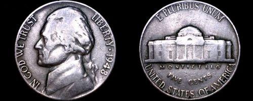 1948-P Jefferson Nickel