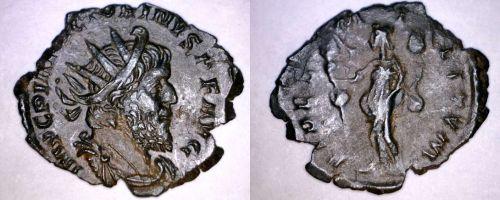 269-271AD Roman Imperial Victorinus AE-20 Antoninianus Coin - Ancient Rome