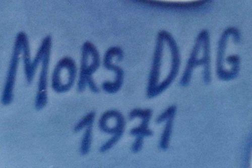 "1971 Commemorative Mothersday 6"" Saucer / ""MORS DAG"" / R.C. Denmark"