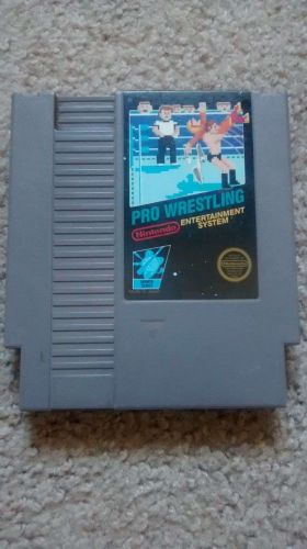 PRO WRESTLING - Nintendo NES Video Game Cartridge - 5 screw black box label 1987