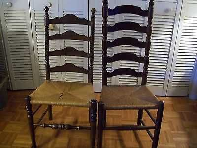 """ladder back chairs 2 different sizes 42"""" tall and 45"""" tall"""