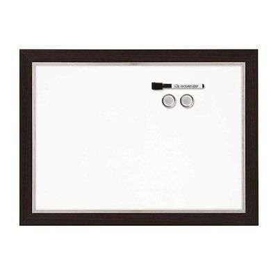 Magnetic Dry Erase Board 17x23 Inches Espresso Whiteboard Marker Office Presenta