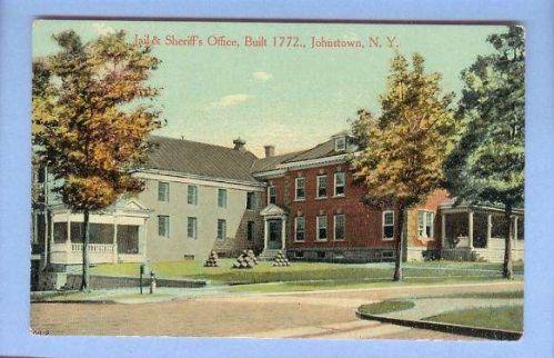 New York Johnstown Jail & Sheriffs Office Built 1772 Street Scene View Lar~63