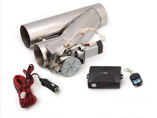 "UNIVERSAL 3"" 76MM ELECTRIC EXHAUST Y-PIPE CUTOUT VALVE WITH REMOTE VER.2 TURBO"