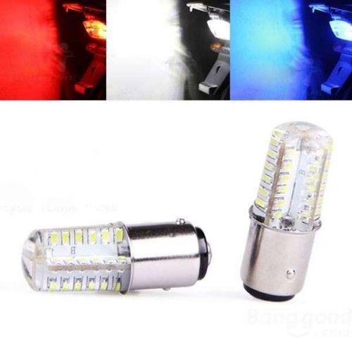 Motorcycle LED (48 bright) Strobe RED light bulb base 1157- USA Seller Fast Ship