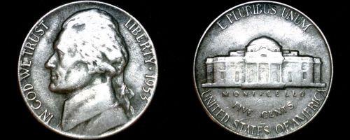 1953-P Jefferson Nickel
