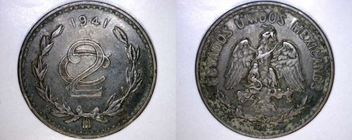 1941 Mexican 2 Centavo World Coin - Mexico