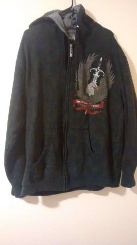 American Chopper Sweatshirt XL 80% cotton 20% Polyester, Black, Long Sleeve