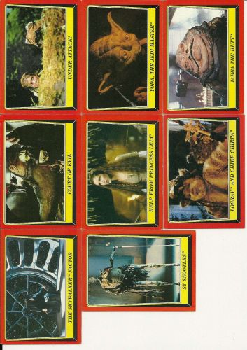 Star Wars Return of the Jedi Trading Cards Lot of 34 - 1983
