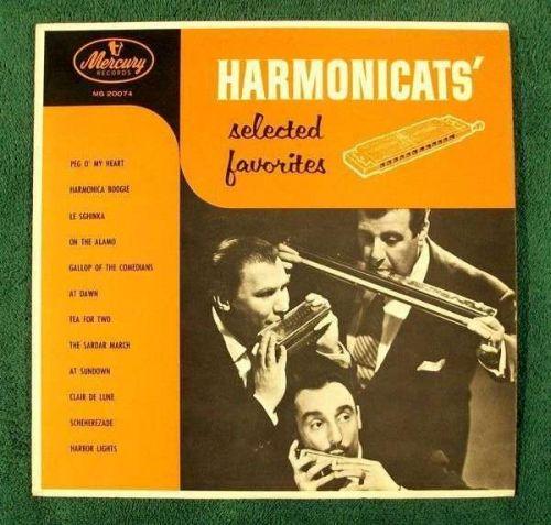 "THE HARMONICATS' "" Selected Favorites "" Hi-Fi Pop LP"