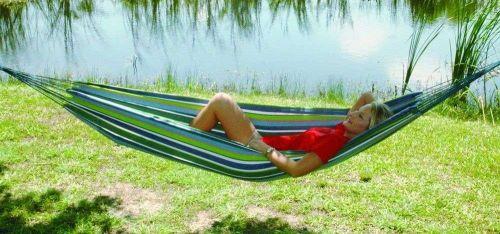 New Caribbean Jumbo Free Shipping Outdoor Bed Camping Hammock/Rainbow Stripe