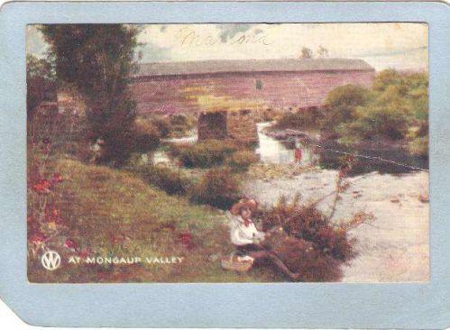 New York Mongaup Valley Covered Bridge Postcard Covered Bridge World Guide~492