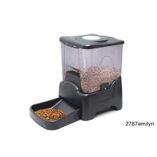 Automatic Feeder Timer Dog Cat Pet Dry Food Vacation Portion Control Dispenser