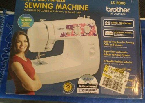 BROTHER BASIC SEWING MENDING MACHINE CRAFTING LS-2000 NIB