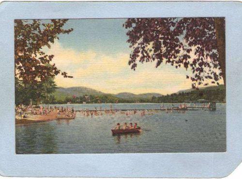 New York Lake Placid Municipal Beach & Mirror Lake ny_box5~1678