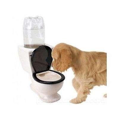 Dog Water Dispenser Fountain Bowl Toilet 2 Liter Dish Pet Feeder Cat Drinking