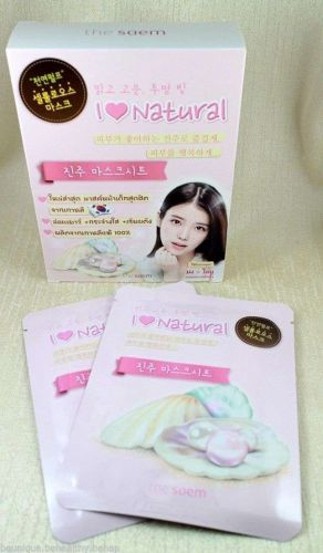 6x Mask Sheet Contains Pearl Extract Moisture Natural Flexible IU Brand Saem
