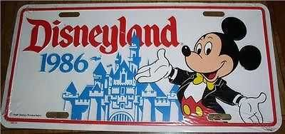 Disneyland Mickey Mouse Castle 1986 License Plate