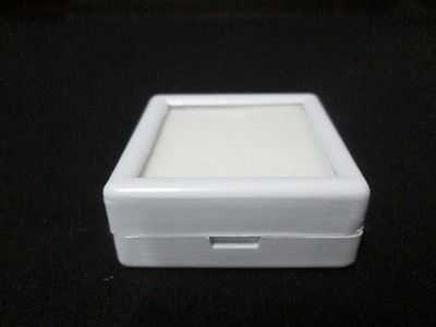 20 pcs Gem Tool Display Boxes Square White Boxes W/ Lids Top Glass 4x4x1.5 cm.