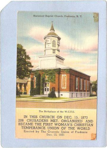 New York Fredonia Historical Baptist Church The Birthplace Of The W C T U ~926