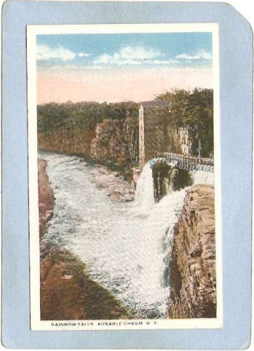 New York Ausable Chasm Rainbow Falls ny_box5~1530