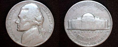 1956-D Jefferson Nickel