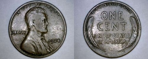 1924-P Abraham Lincoln Wheat Penny
