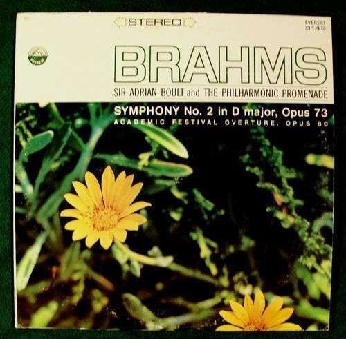 BRAHMS ~ Symphony No. 2 in D major, Opus 73 / Academic Opus 80 Classical LP