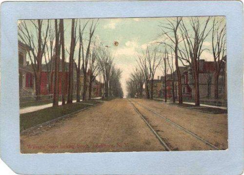 New York Johnstown Williams Street Looking South Street Scene w/Trolley Tr~2052