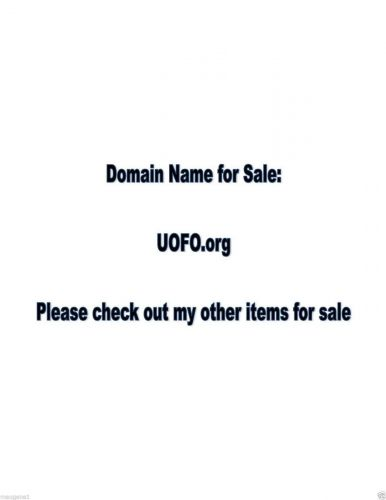 Domain Name - UOFO.org - great name for a website
