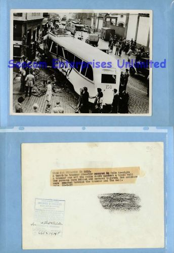 Norway Oslo Press Photo Disaster Tramcar Accident 1937-5-15 Norway, ~1