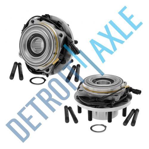 Pair: 2 New FRONT Driver and Passenger Wheel Hub Bearing - w/ ABS - DRW