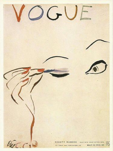 Vogue 1935 Vogue Cover Print Beauty Number Art Deco 1984 original print