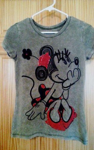 DISNEYLAND Short Sleeve 100% Cotton Kaki GraphicTee MINNIE Mouse-Juniors Size S