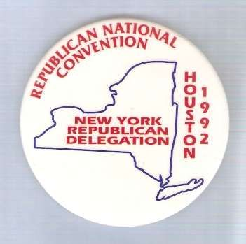 New York President Candidate: New York Delegate 1992 Political Campaign Bu~1