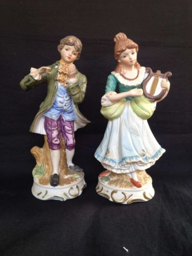 antique porcelain. German Couple.