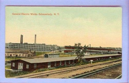 New York Schenectady General Electric Works View Large Factory Complex w/T~244