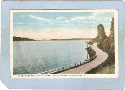 New York Tupper Lake Moody Road Along Lake Shore Looking North ny_box5~1820